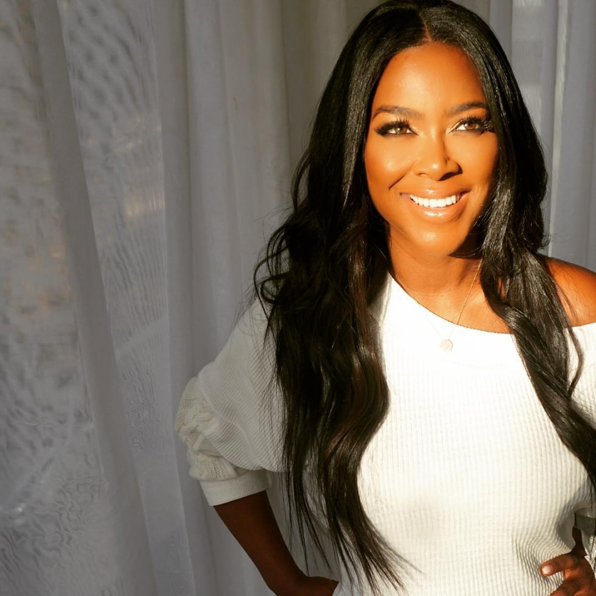 Kenya Moore Posts New Pics Of Baby Brooklyn And Kandi Burruss' Son Ace Wells Tucker Already Seems In Love With The Baby