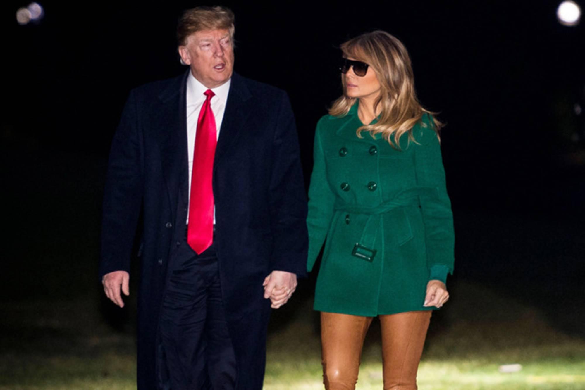 Donald Trump Melania New Year's Eve