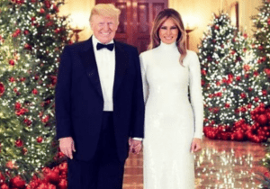 President Donald Trump And Melania Dazzle In Christmas Portrait