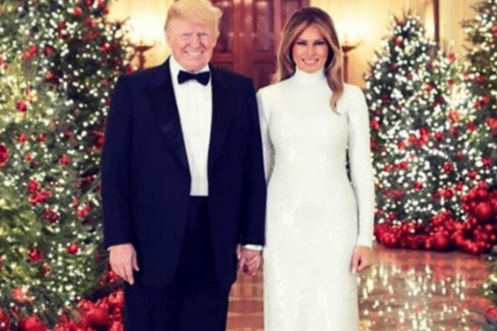 President Donald Trump And Melania Dazzle In Christmas Portrait