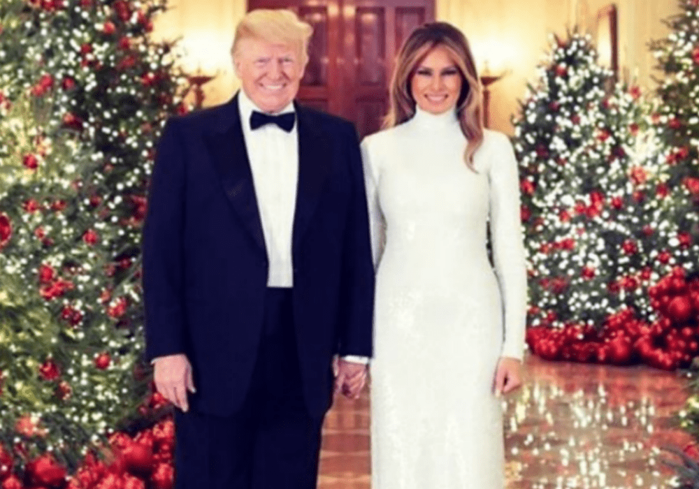 Melania and Donald Trump Christmas