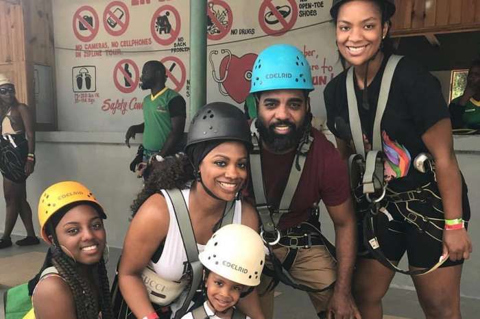 Kandi Burruss Shows Off Killer Curves In Pink Bikini In Vacation Pictures With Todd Tucker And Daughter Riley