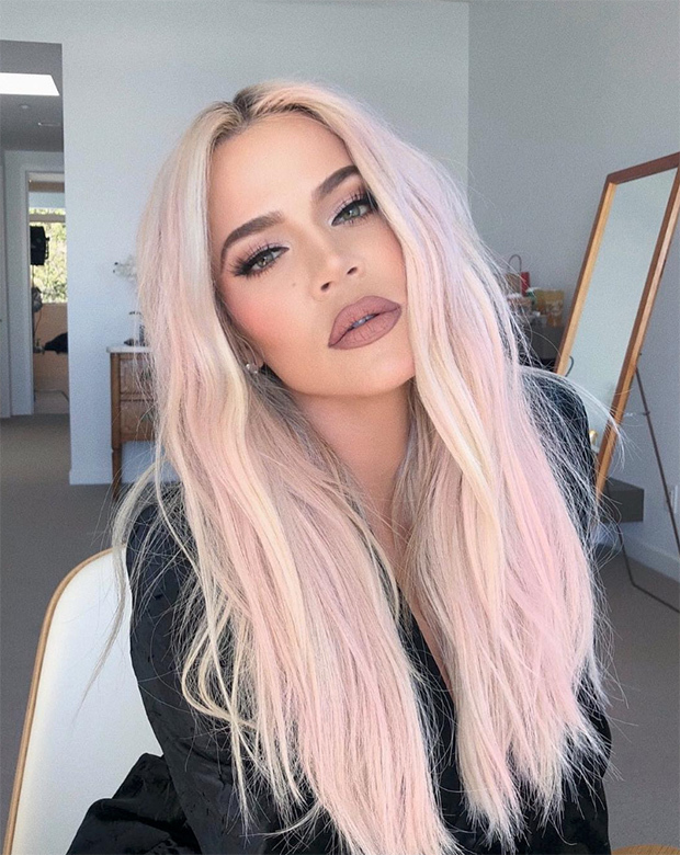 Khloe-Kardashian-Dyes-Her-Hair-Pink