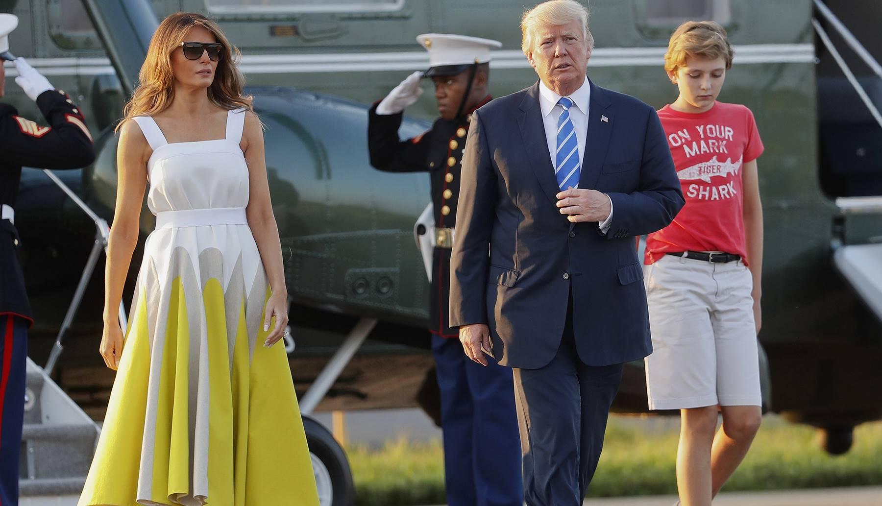 Melania Trump Donald Barron Christmas