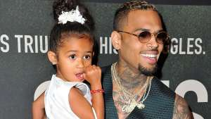 Chris Brown's Daughter Royalty Is Very Excited For His Christmas Movie And This Video Captured Some Of It