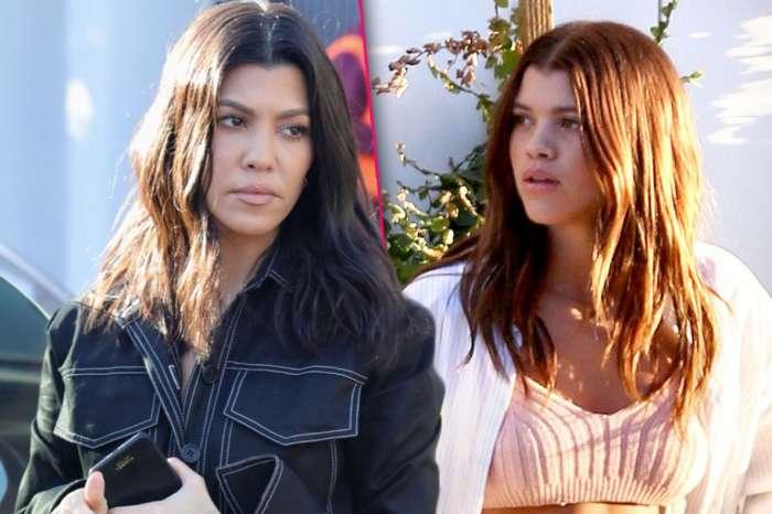 Sofia Richie And Kourtney Kardashian Wear Black Outfits At Kim Kardashian's Christmas Eve Party In Calabasas