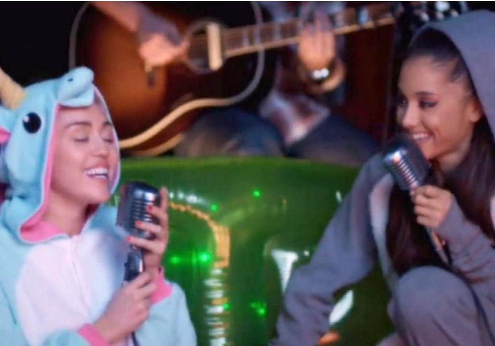MIley Cyrus and Ariana Grande