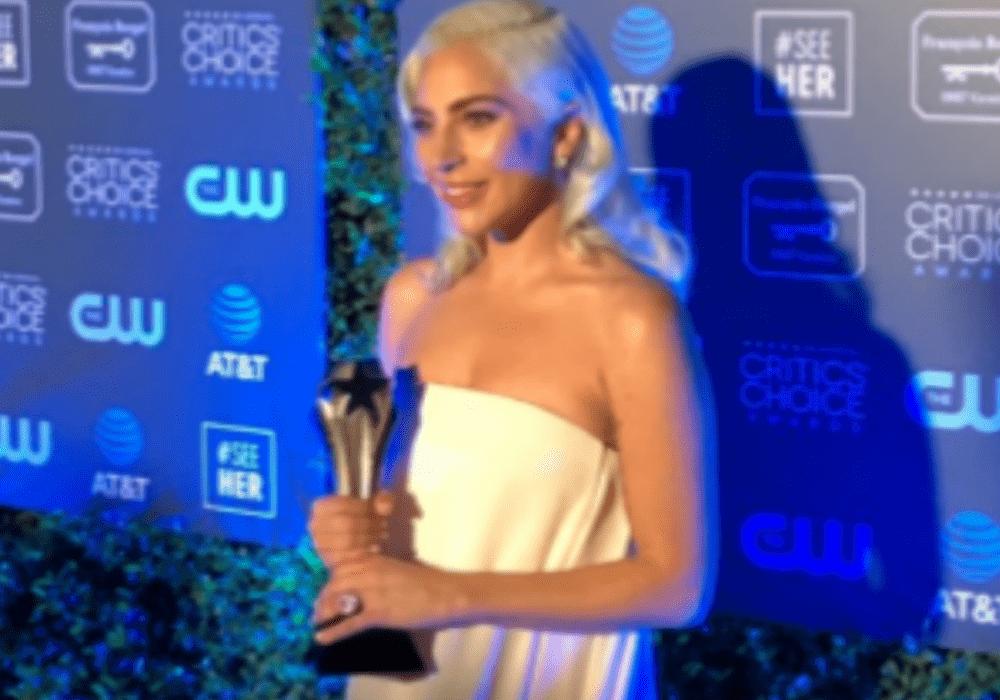 Lady Gaga wins Critics' Choice Award