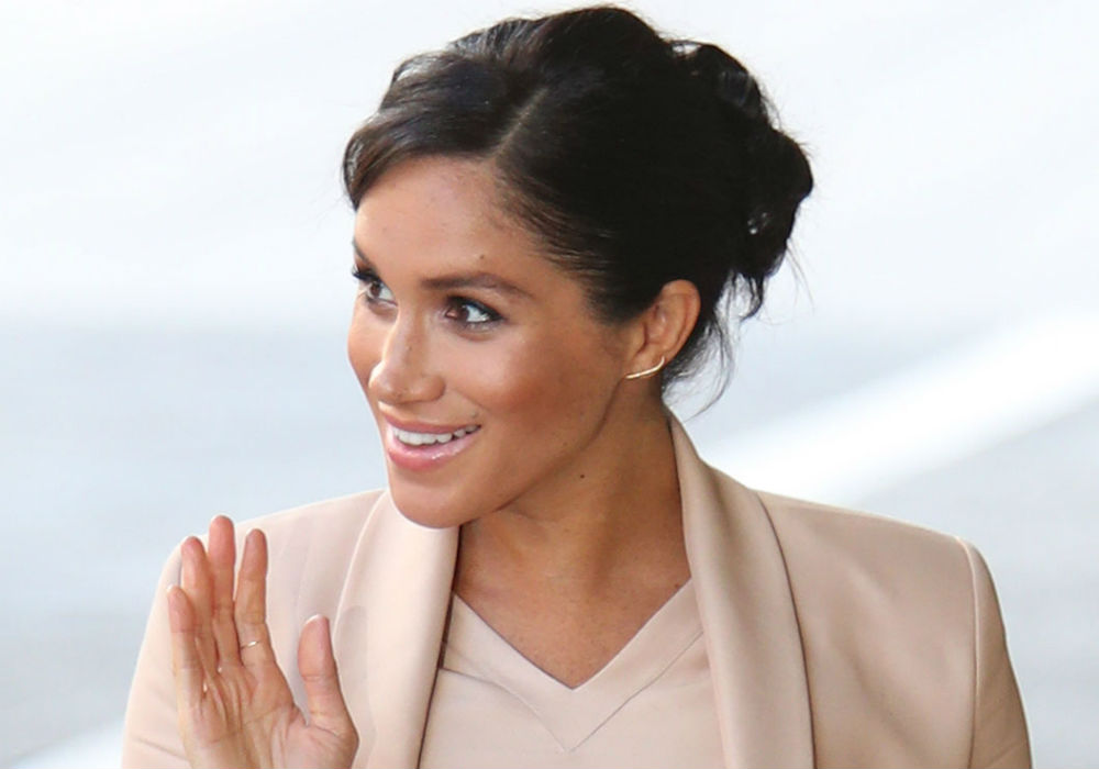 Meghan Markle Wear Peach Dress, Blazer at London's National Theater