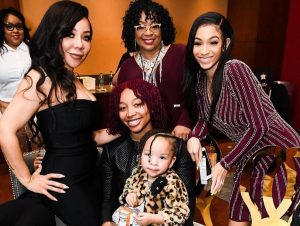 Tiny Harris Poses With Her Three Daughters In Sweet Picture Accompanied By Violetta Morgan, T.I.'s Mother