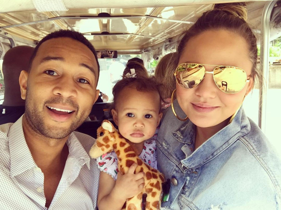 Chrissy Teigen Shares Gorgeous Pics Of Her Babies Having Fun Without Her - Check Out Funny Luna And John Legend Having A Blast; Fans Predict Luna Will Be A Heart Breaker
