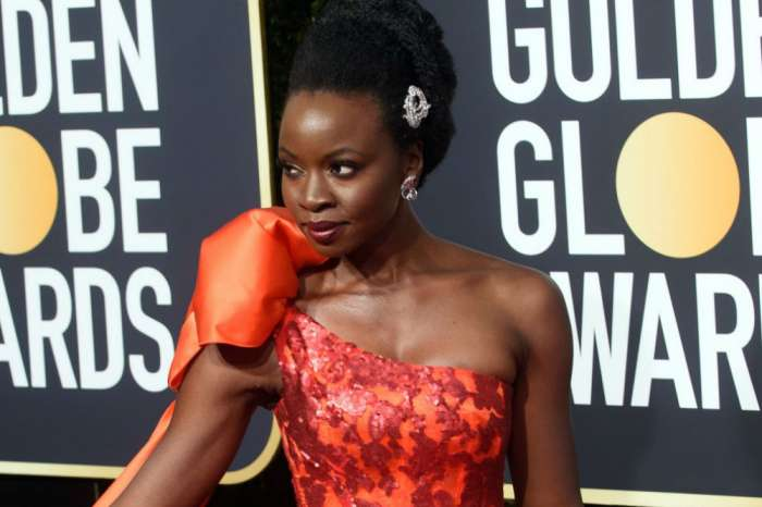 Danai Gurira Still Shines In Metallic-Red Rodarte Golden Globes Dress As 'Black Panther' Fans Praise Star For Same Sex Kiss