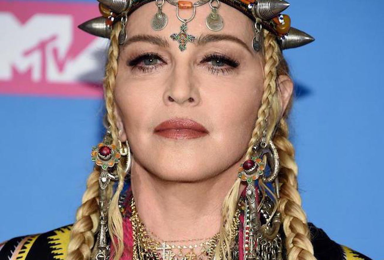 Madonna Sports New Brunette Hair Amidst Booty-Implants Rumors