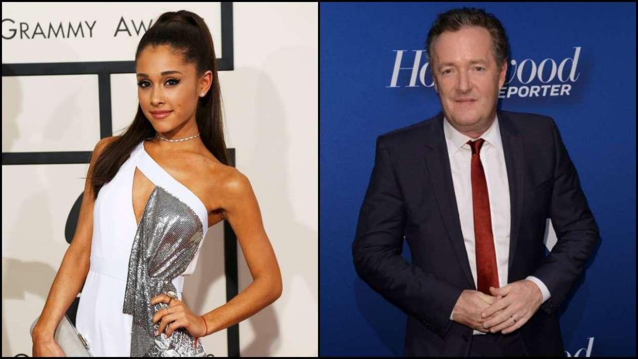Ariana Grande and Piers Morgan