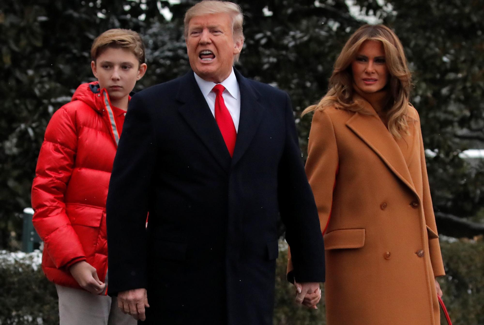Barron Donald Trump Melania SOTU