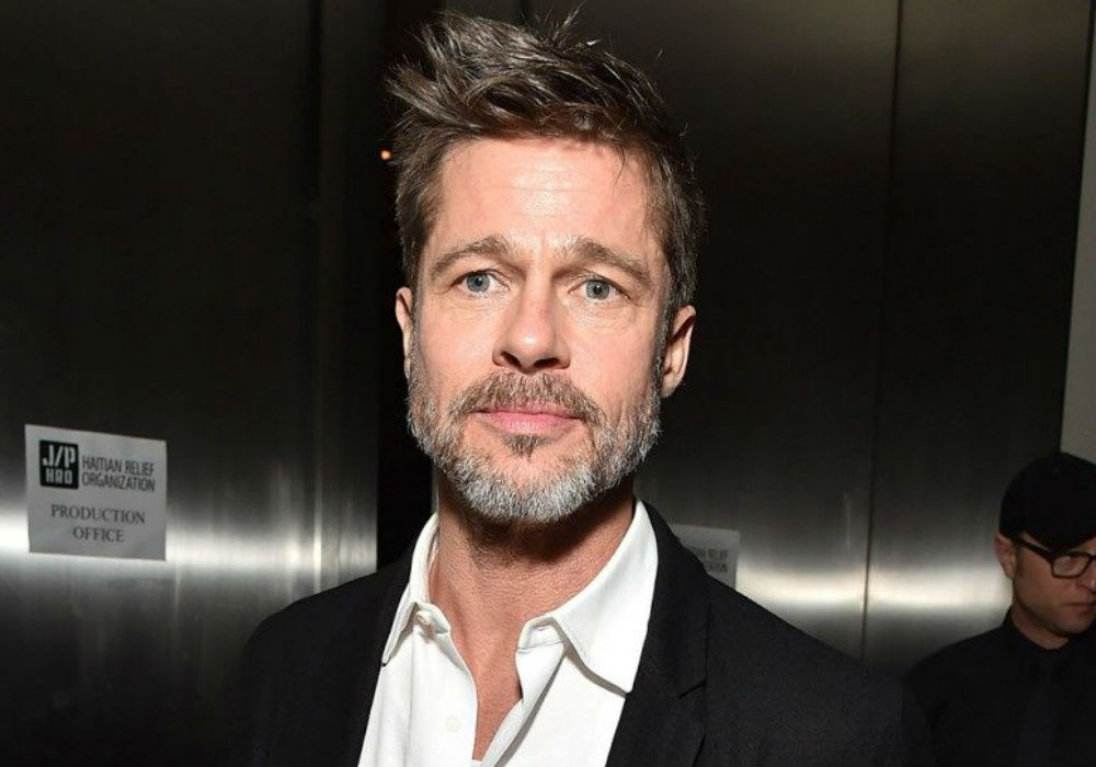 Brad Pitt Attends Jennifer Aniston's 50th Birthday Party