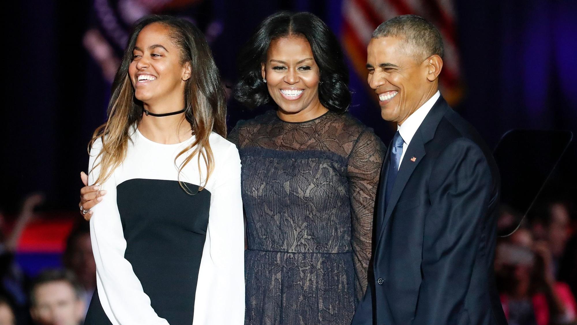 Malia Michelle Barack Obama Donald Trump
