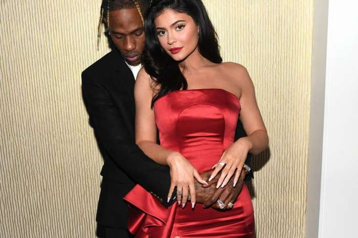 Kylie Jenner Turns Head In Stunning Red Dress In Photos With Travis Scott At Clive Davis' Party