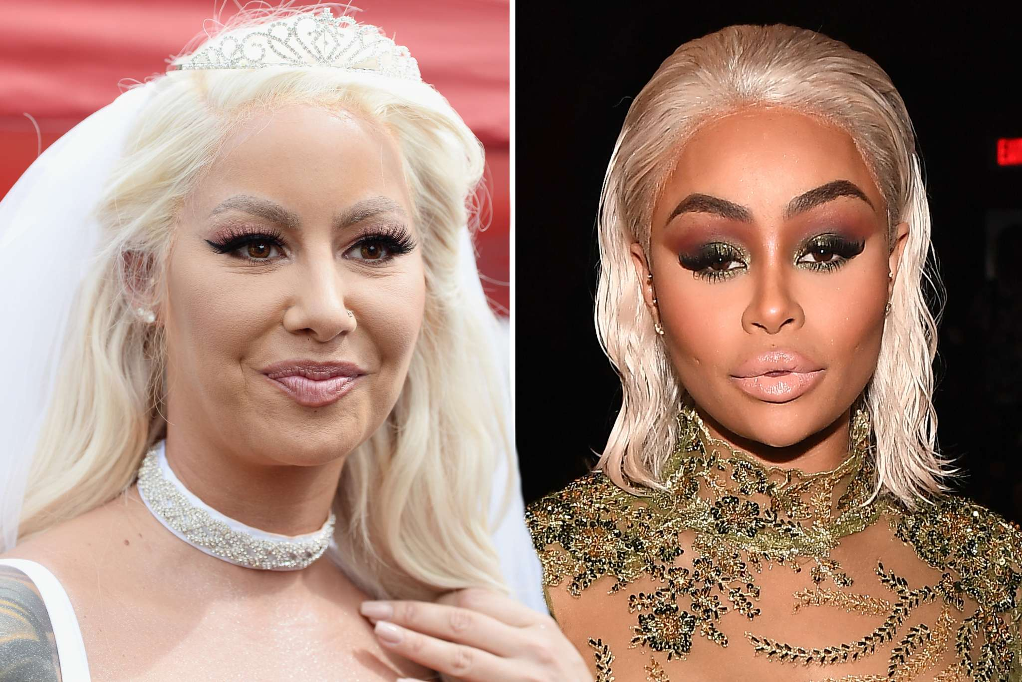 Blac Chyna's BFF Amber Rose Hangs Out With Her Baby Daddy, Tyga At Pre-Grammy Party