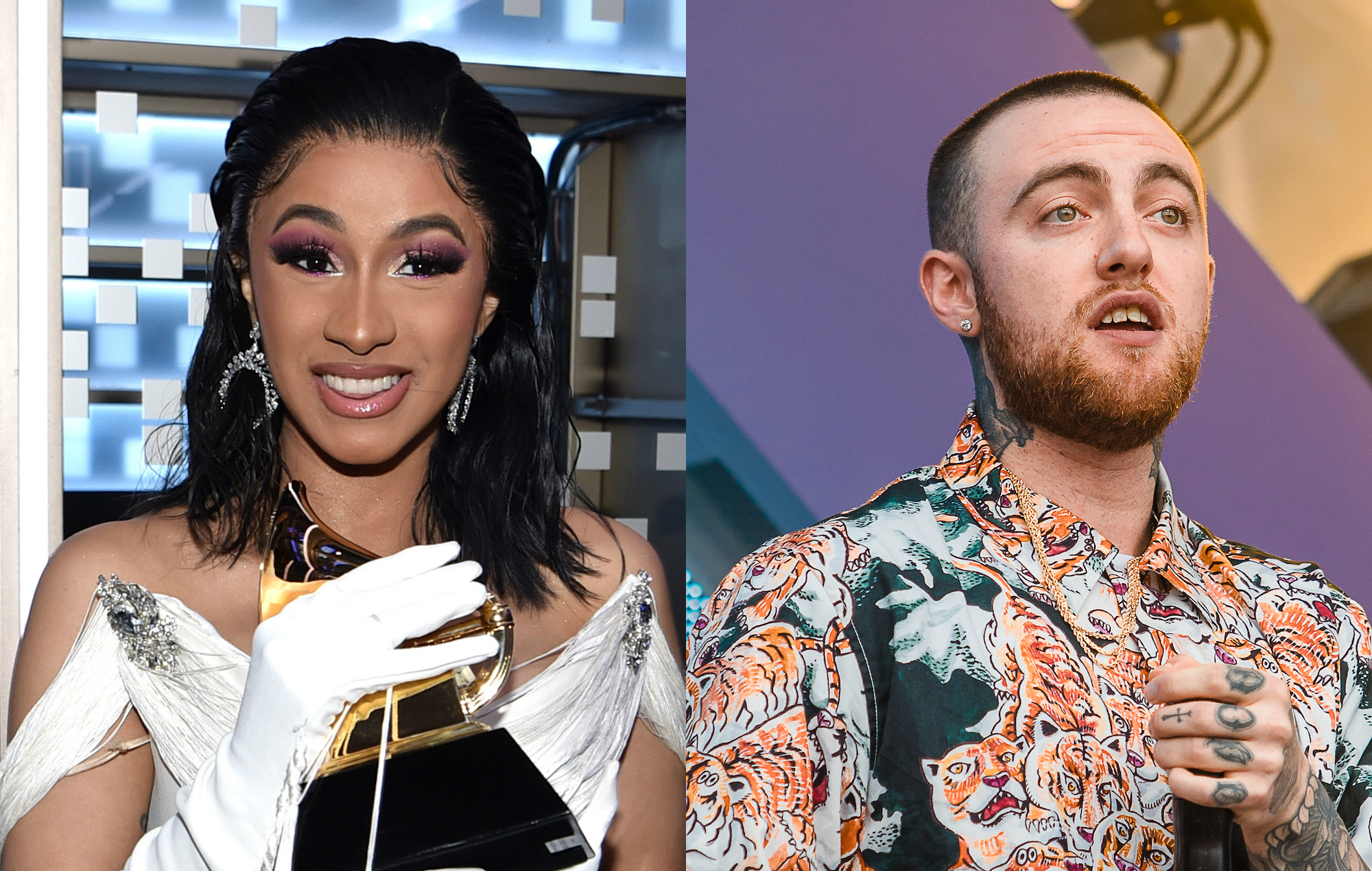 Cardi B Wins 'Best Rap Album' Against The Late Mac Miller – Shows Love To His Family