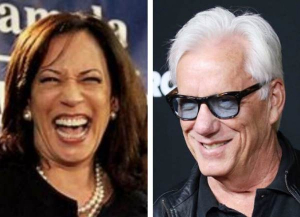 Kamala Harris and James Woods