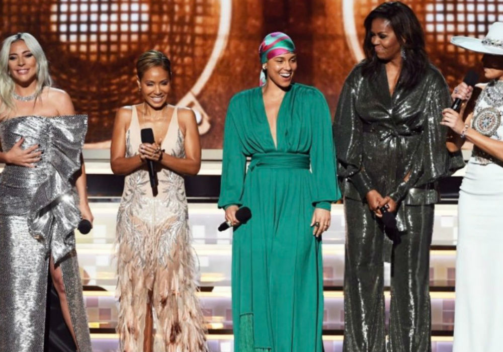 """alicia-keys-michelle-obama-lady-gaga-jennifer-lopez-and-jada-pinkett-smith-dazzle-at-grammys-with-tribute-to-music"""