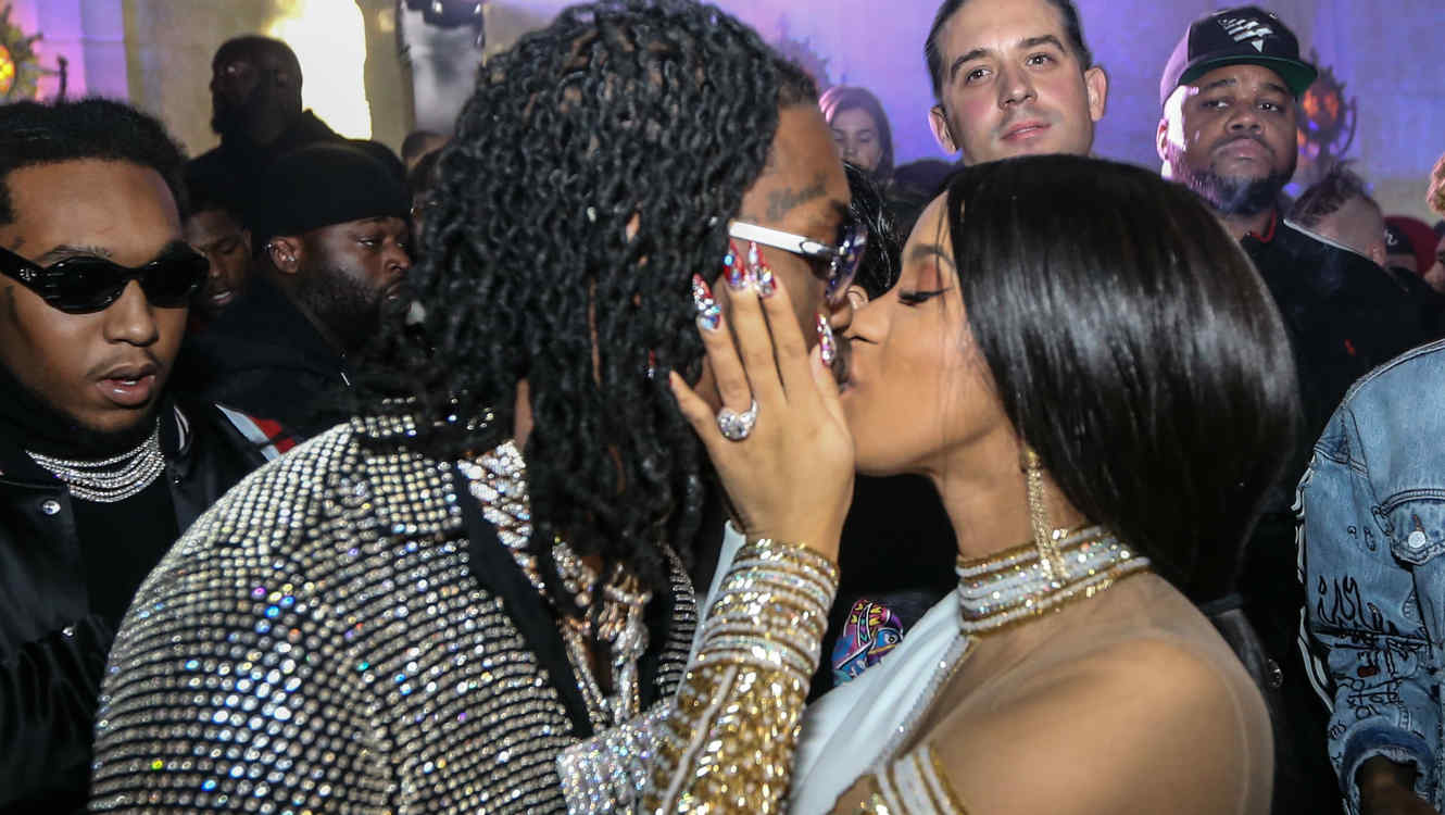 Cardi B Twerks On Offset While Showing Off Her Engagement Ring