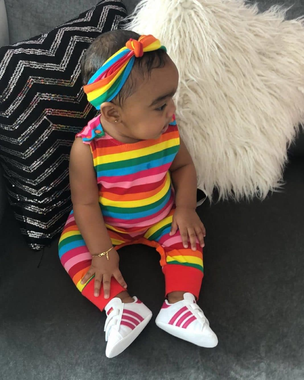 Toya Wright's Daughter Reign Rushing Slays The Fashion Game Again - She Looks Heavenly In A Colorful Outfit