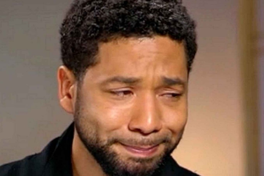 Jussie Smollett crying