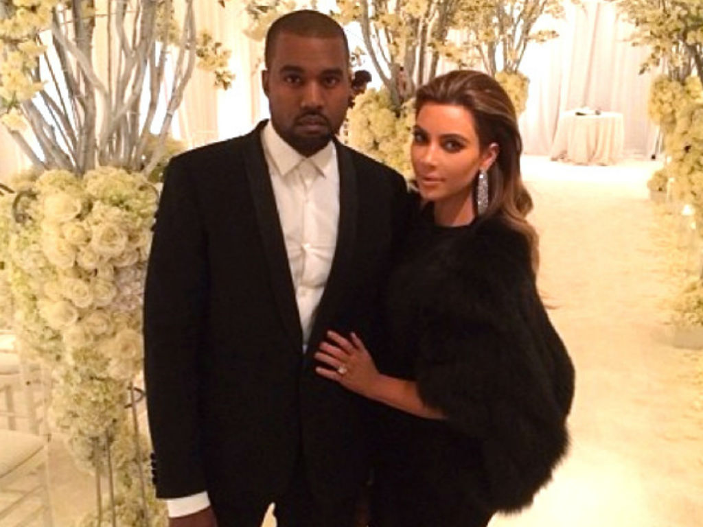Kim Kardashian and Kanye West give away Yeezy sneakers