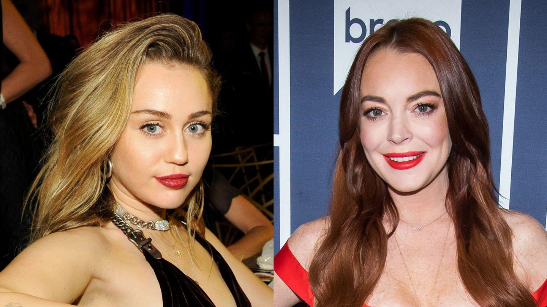 Lindsay Lohan miley cyrus