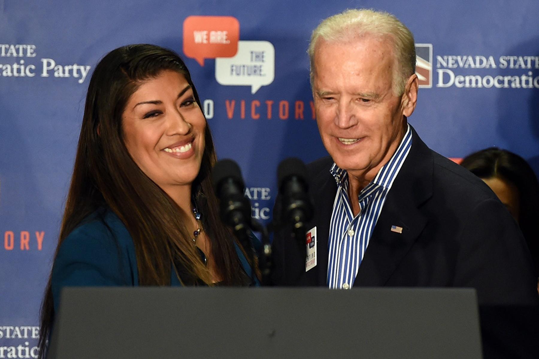 Lucy Flores Joe Biden Bernie Sanders