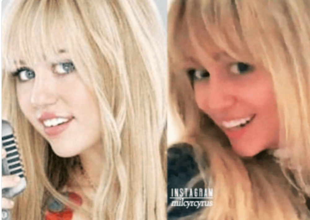 Miley Cyrus brings back her Hannah Montana look!