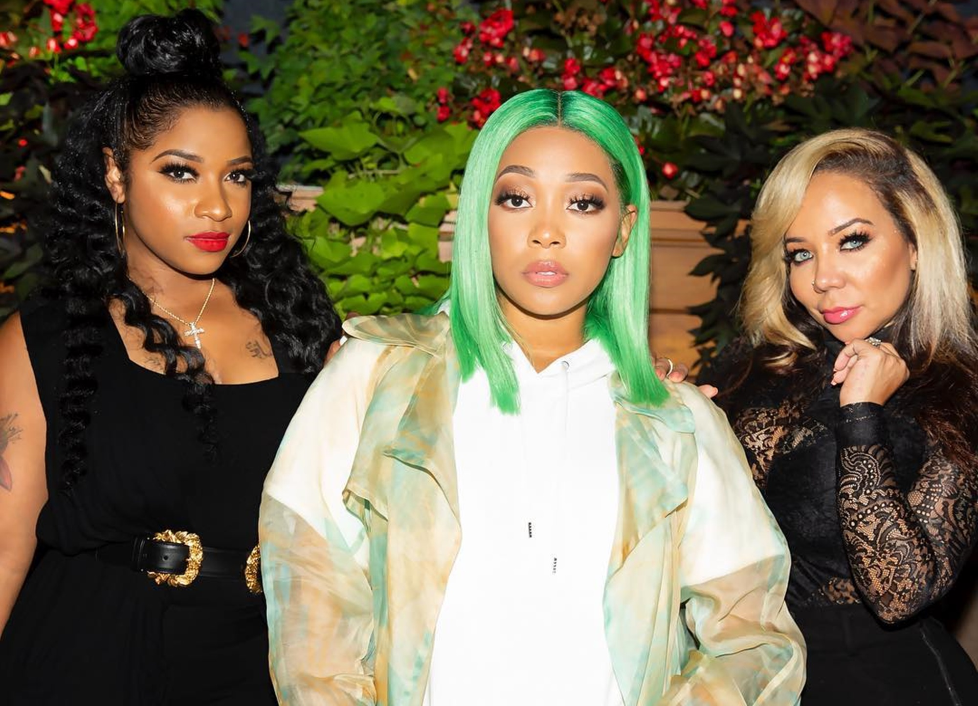 """""""toya-wright-poses-with-tiny-harris-and-monica-brown-and-fans-call-them-a-lit-trinity"""""""