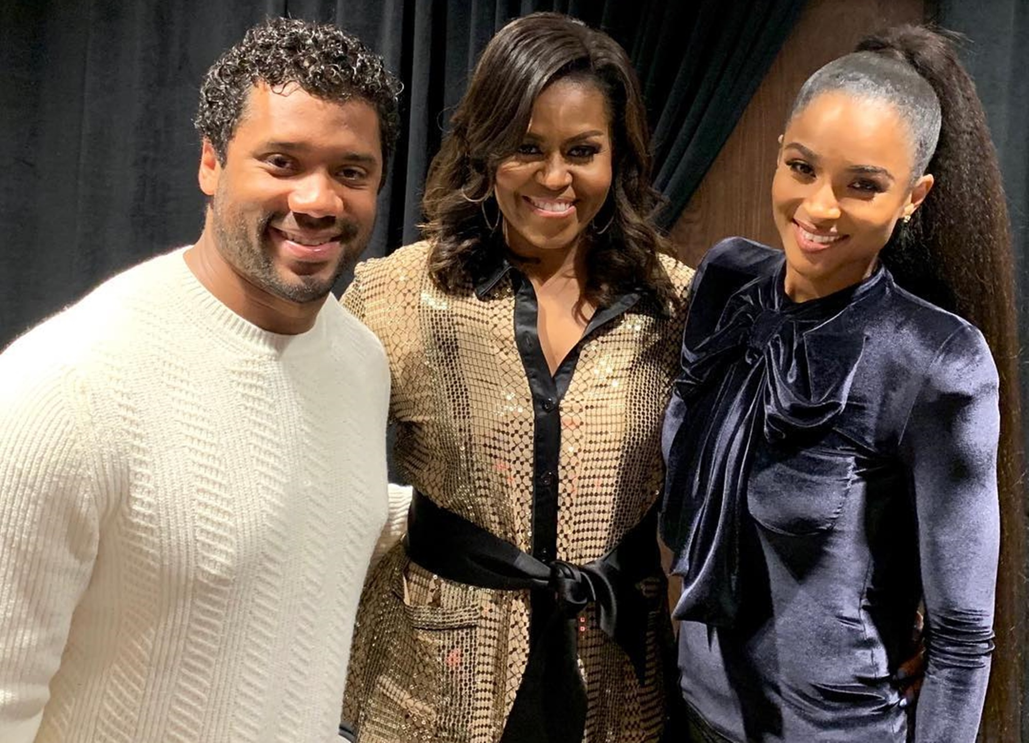 Russell Wilson Michelle Obama Ciara