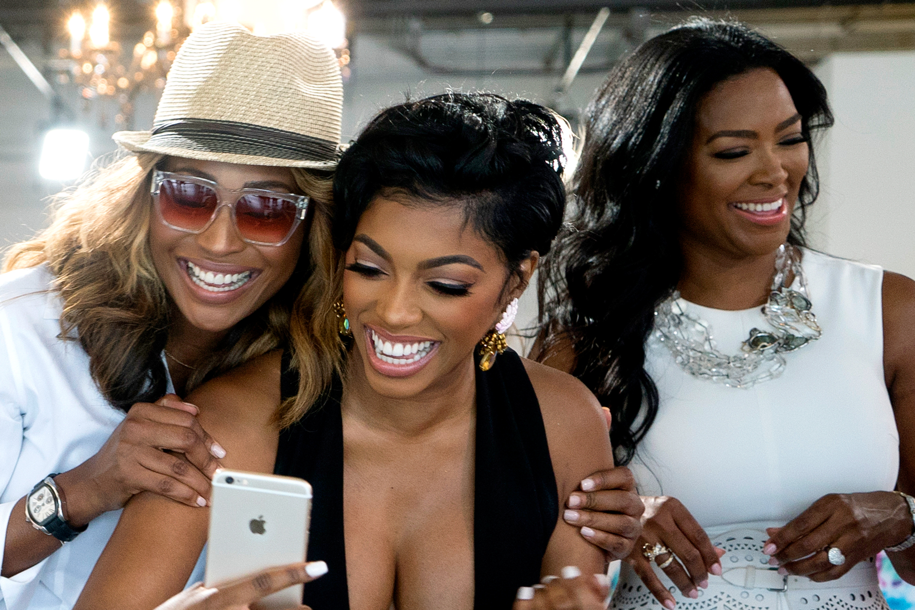 Kenya Moore And Cynthia Bailey Look Stunning At Porsha Williams' Baby Shower - Watch The Photos