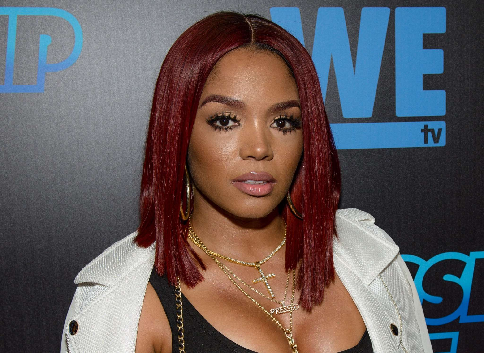Rasheeda Frost Flaunts New Blue Hair While Showing Off Some New Merch At Her Pressed Boutique