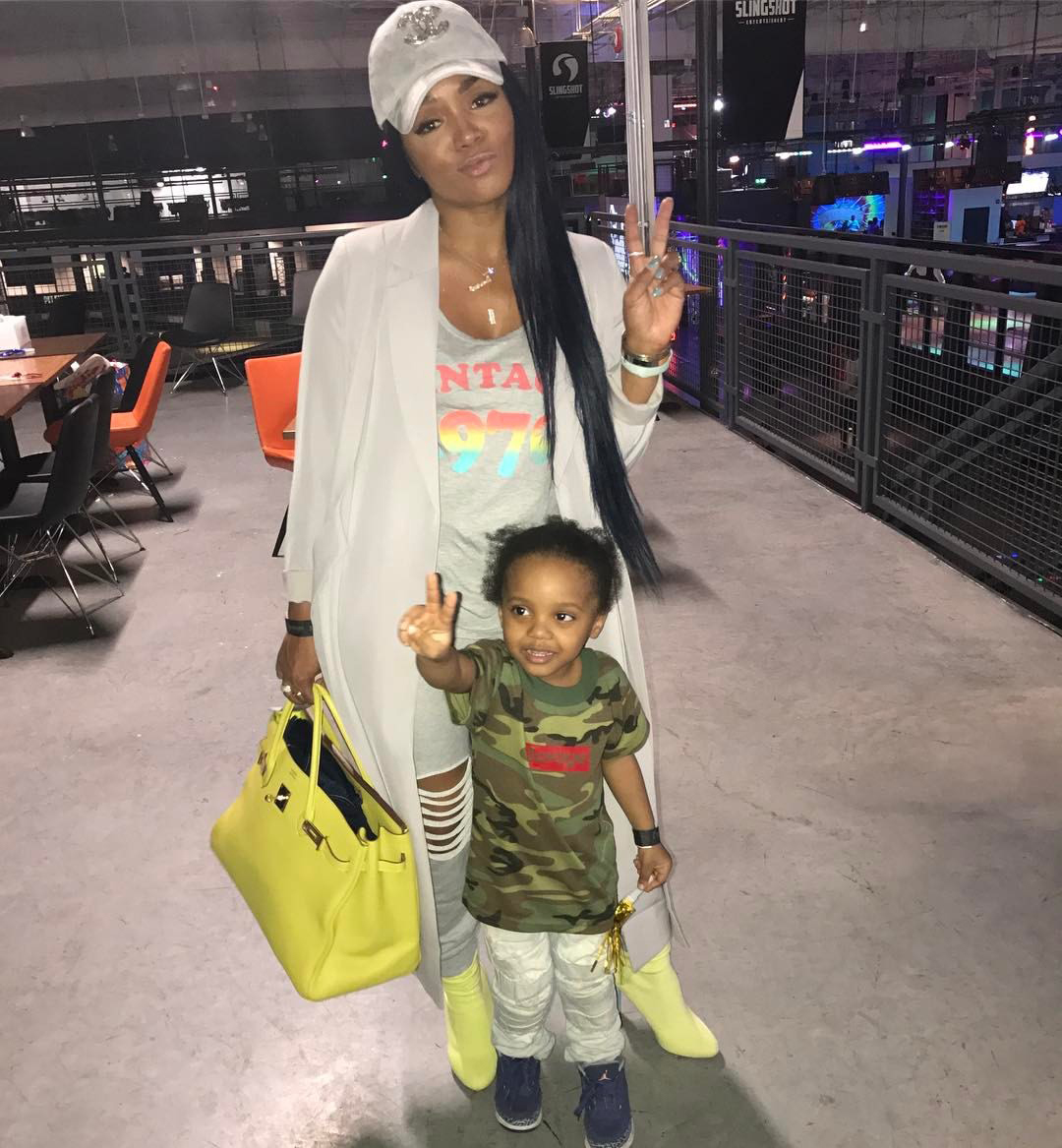 New Hair Alert: Rasheeda Frost Rocks New Pink Hair But Has Fans Confused Due To Her Shirt - Check Out The Message It Has Printed On