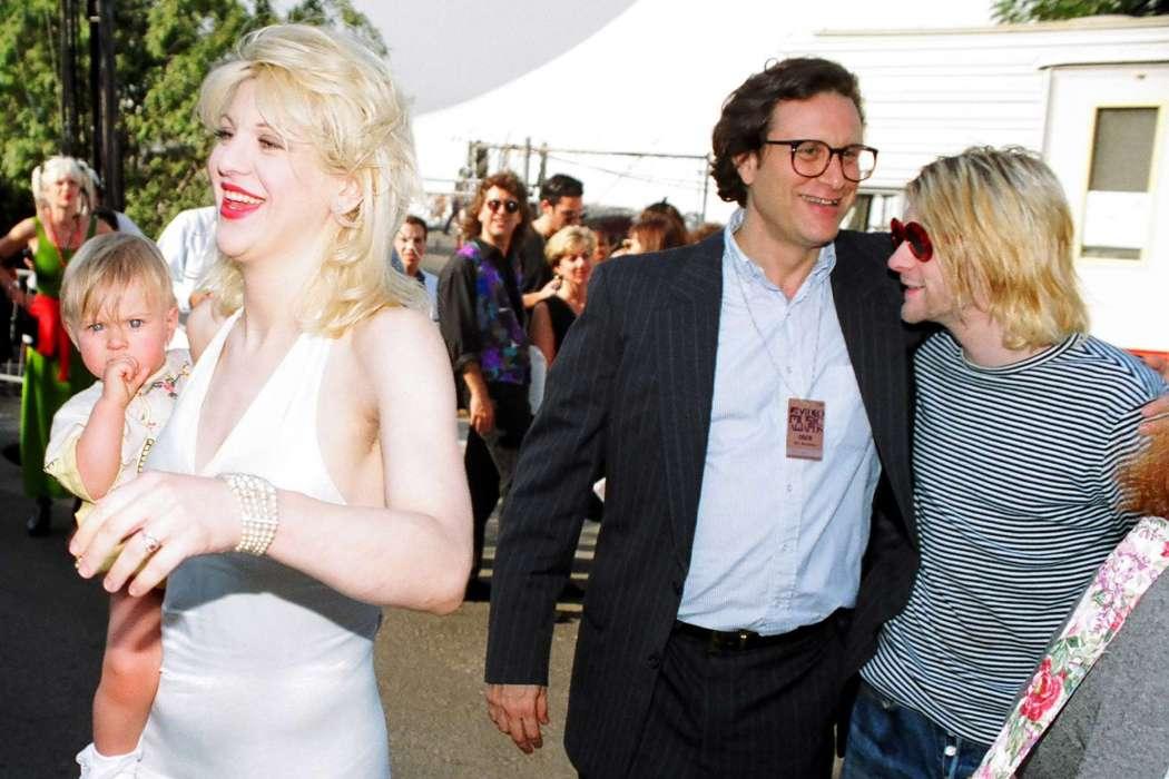 Kurt Cobain and Danny Goldberg