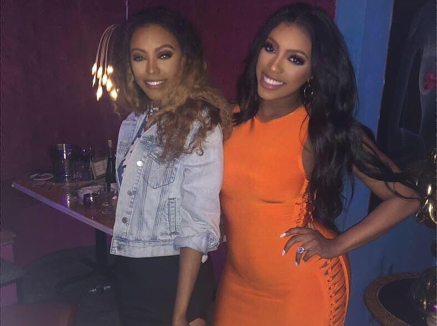 porsha-williams-snap-back-stomach-in-ladies-night-pictures-with-sister-lauren-sparks-debate-about-what-is-okay-to-do-after-a-c-section