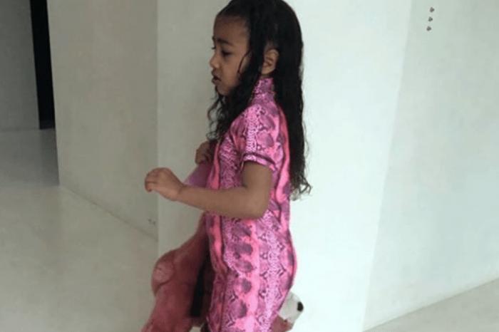 Kim Kardashian Shares Photos Of North West's Meltdown Over Pink Snakeskin Boots