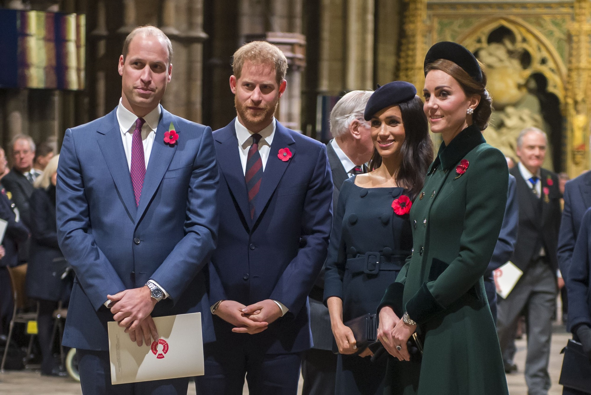 Prince William Prince Harry Kate Middleton Meghan Markle