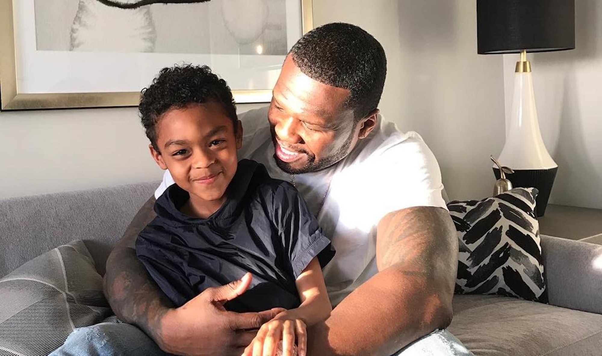 50-cent-drags-non-fan-who-called-him-out-after-he-posted-adorable-picture-with-son-sire-jackson-it-all-had-to-do-with-marquise