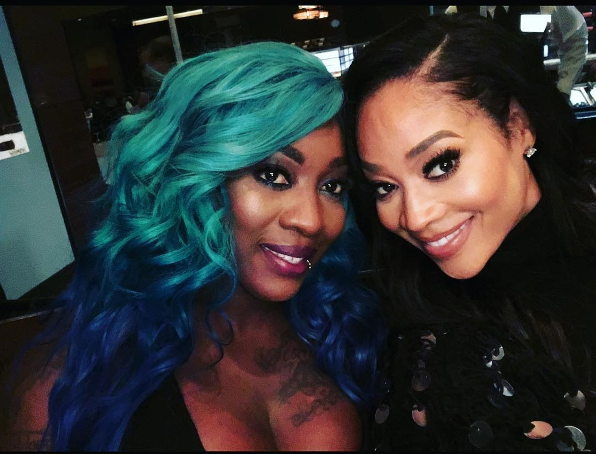 """mimi-faust-celebrates-beautiful-black-women-with-sweet-photo-featuring-spice-after-epic-skin-bleaching-debate-on-love-hip-hop-atlanta"""