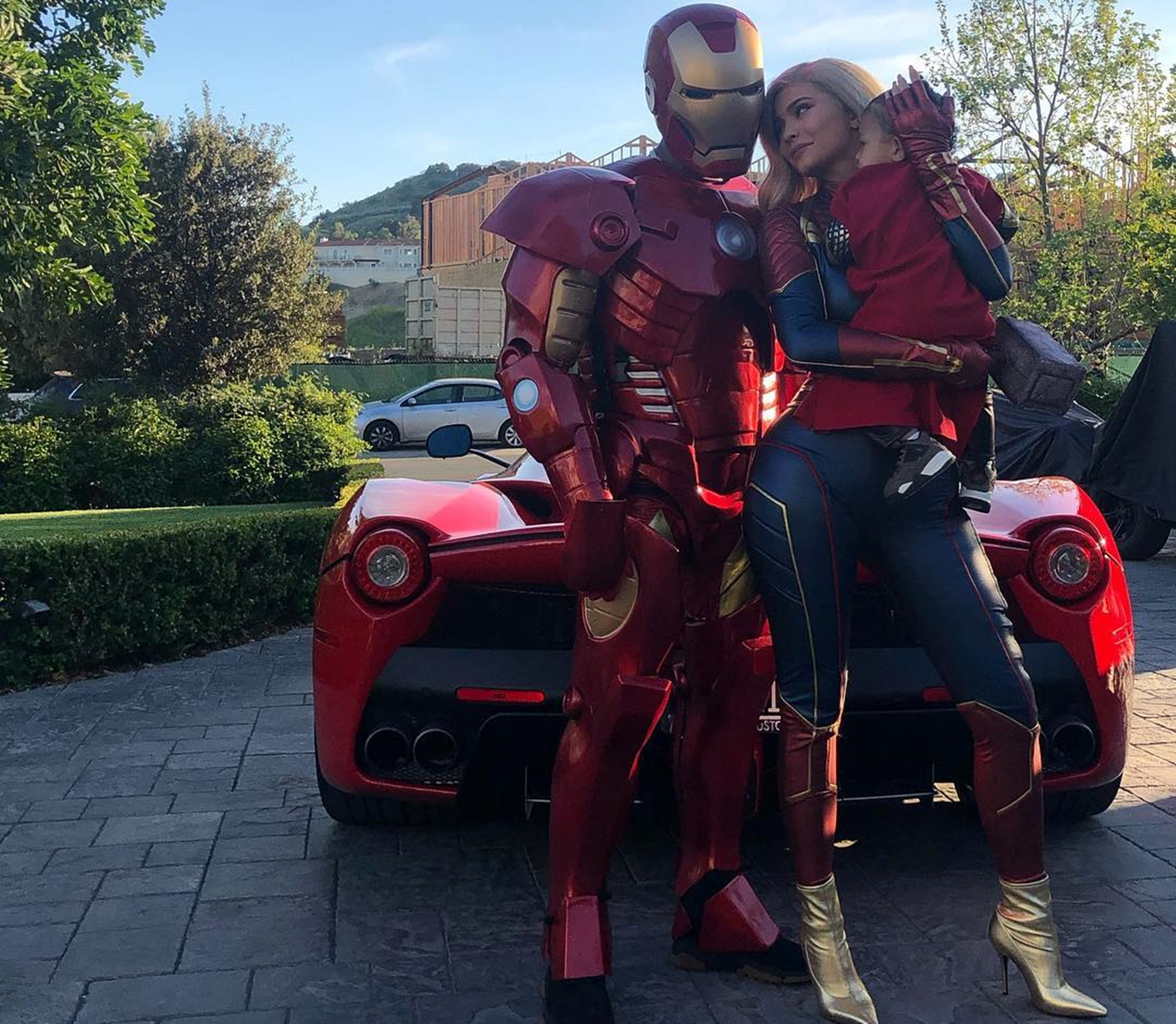 Travis Scott + Kylie Jenner Celebrate AVENGERS: ENDGAME By Dressing Up As Marvel Superheroes