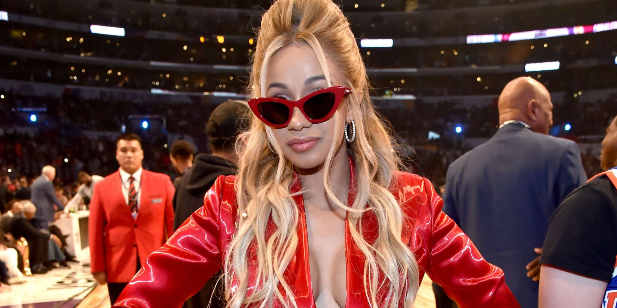 Cardi B Rocks A Jaw-Dropping Blood Red Outfit While Announcing Her New Fashion Nova Collection - Watch The Video