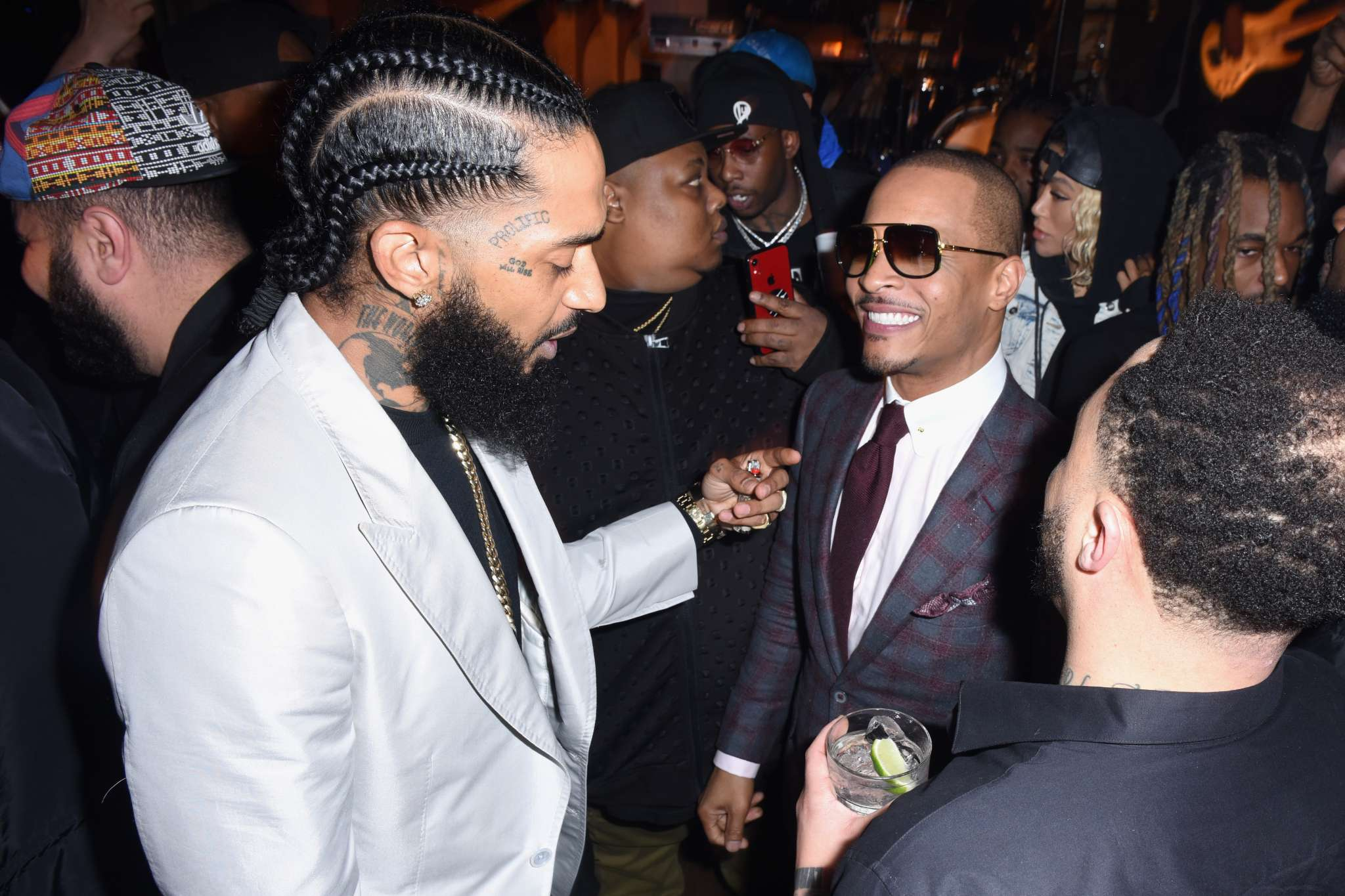T.I. Makes His Fans Cry Their Hearts Out With The Latest Video He Posted Of Nipsey Hussle