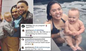 Ayesha Curry Furious After Hater Fat-Shames Her Son