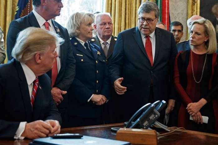 Donald Trump Praises Bill Barr, Says He Did A Great Job, And Slams Democratic Rivals As 'Lunatics'