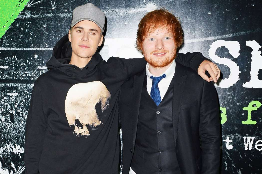 Ed Sheeran, Justin Bieber preview new single 'I Don't Care'